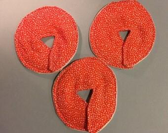 Large Size/Adult Feeding Tube Pad - Set of 3, Cheerful Orange