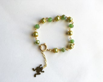 Princess and the Frog, Tiana inspired bracelet, jewelry