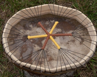 Shaman drum oval 14 x 11 inch roe deer hide