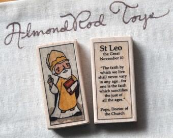 St Leo the Great Patron Saint Block