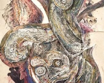 Original mixed media on canvas
