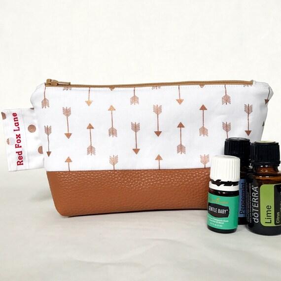 Rose Gold Arrows LB Essential Oil Bag