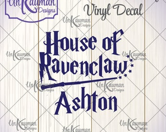 DIY Iron On Vinyl Harry Potter Inspired Personalized House of Ravenclaw Decal