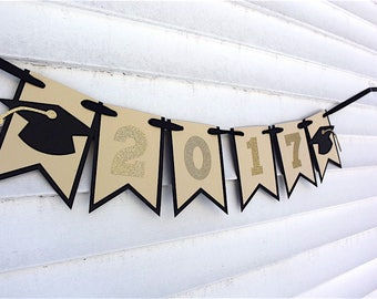 Gold or Silver Banner 2017 Graduation, 2017 Graduation Banner, Graduation Decorations, Graduation Banner, Graduation Party Decorations