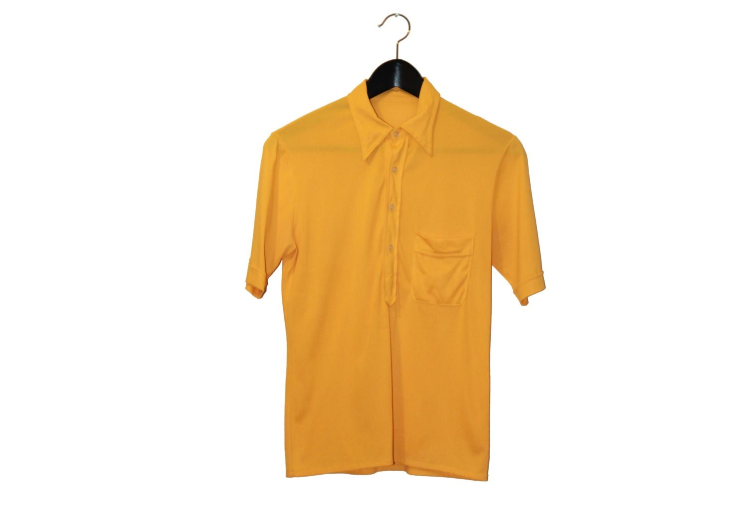 70s vintage yellow top polo vintage clothing