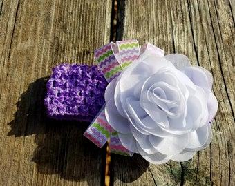 Hair Accessory, Girls Accessory, Girls Headband, Photo Prop, Spring Flower, White Flower Headband, Flower Headband, Easter Headband,Birthday