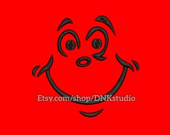 Cat Hat Face Machine Embroidery Design - 5 Sizes - INSTANT DOWNLOAD