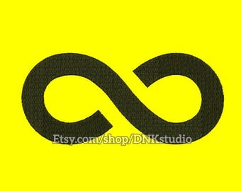 Infinite Infinity Embroidery Design - 6 Sizes - INSTANT DOWNLOAD