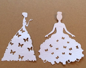 Princess die cuts , valentines die cuts, wedding die cuts, queen die cuts, decorative die cuts, card making die cuts,