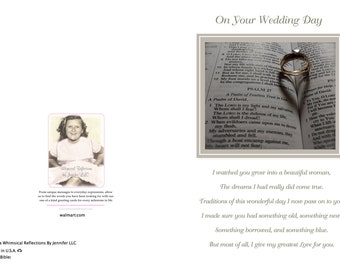 WW 1 Wedding Bible Greeting Card, Wedding Card, Mother To Daughter Card, Mother and Daughter card, Special Occasion, Special Day, Bible