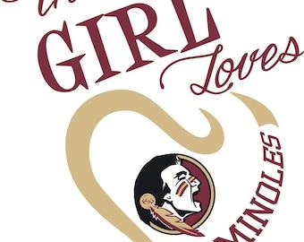 This Girl Loves FSU Seminoles SVG File!
