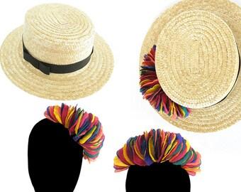 Detachable Gioia Boater: Hat + semi-couronne