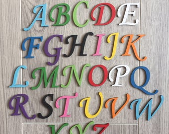 Script wooden letters, painted for free, wooden names, wall art, decor, personlaised wooden names, plaques, alphabet letters
