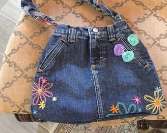 Upcycled denim purse