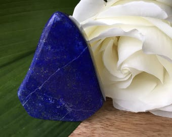 AA Polished Lapis Lazuli Standing Piece, Reiki Infused