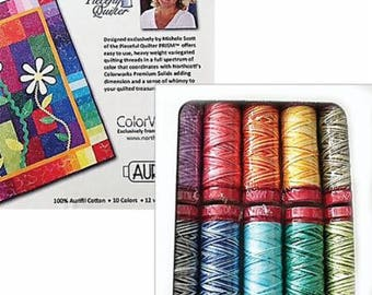 Prism Collection by Michele Scott Variegated Quilting Thread Set 12 wt Aurifil 10 spools