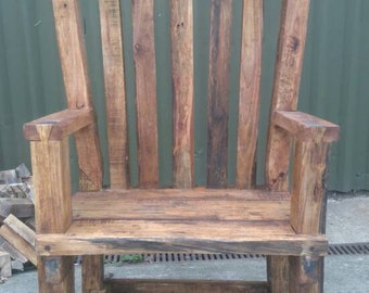 Handcrafted Large Throne Chair Office Chair Unique
