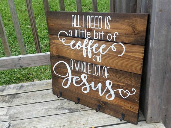 Coffee Sign Coffee Mug Holder Coffee Sign With Hooks All