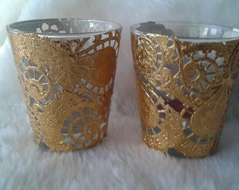 Gold Coloured Tea Light Holders