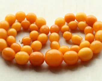 Natural Baltic Amber Gorgeous Antique Beads Necklace 40.02 gr