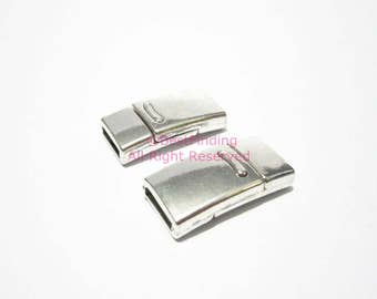 10x2mm magnetic clasp 10mm Flat leather clasp - 3pcs