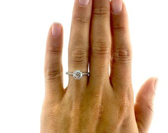 14K White Gold Diamond Engagement Ring 2.49 Carat Round Brilliant E/SI1 #J75235  FREE SHIPPING