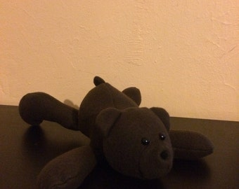 Brown fleece stuffed bear