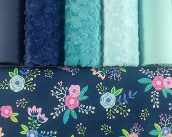 Weighted Blankets - Soft Cotton - Breathable Weighted Blanket - Adults, Teens, and Children - Floral - Nature - Feminine - Minky - Whimsical