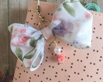 Pastel Floral TN charm and Personal Planner Charm
