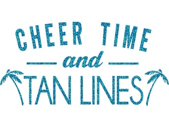 Cheer Time Tan Lines Iron On Decal