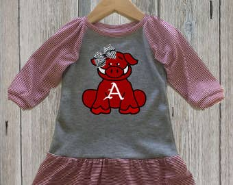 Baby Razorback Gameday Dress
