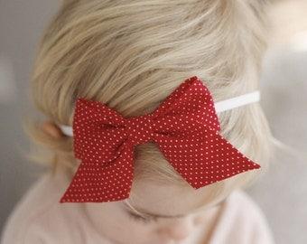"""Red Mini Dots :  """"retro"""" bow"""