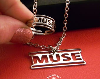 Set Muse - (free shipping) - stainless steel ring and pendant