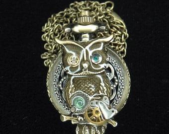 Mother Owl Locket Watch design