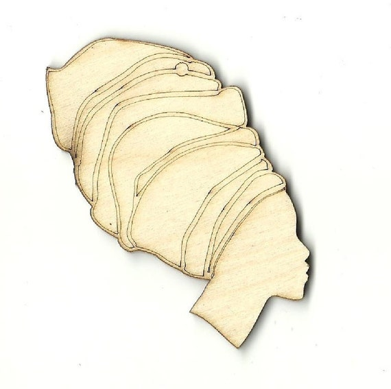Woman Laser Cut Out Unfinished Wood Shape Craft Supply