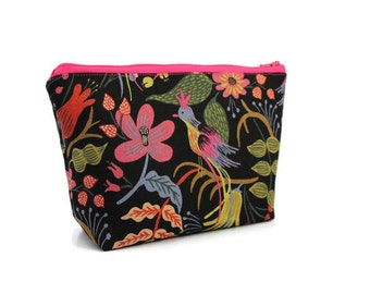 Large Cosmetic Bag - Makeup Bag - Accessory Bag - Make up Bag - Toiletry Bag - Gadget Bag -  Jewelry Pouch Rifle Paper Co Tapestry