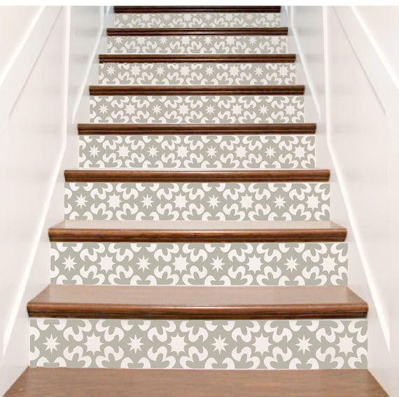 Vinyl stair riser decals 39 carnivale 39 style staircase - Stickers pour escalier ...