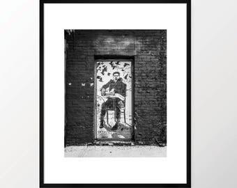 New York City Photography Print NYC Black and White B&W NY Street Art Urban Monochrome Brooklyn DUMBO Brick Abstract