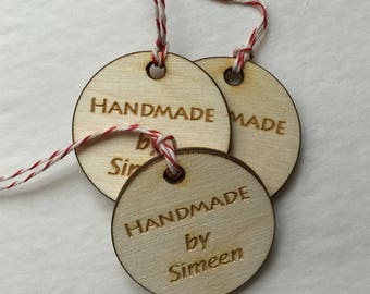 Reserved - 15 Custom wood engrave tag, knitting tag, wood custom tag, personalized wood tag, engraved tag