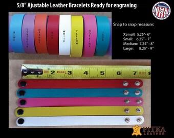 Bracelets Blanks - Leather Bracelets Blanks Engraving Ready - Laser Engrevable Leather Bracelets Blank - As low as US 2.75 per Bracelet