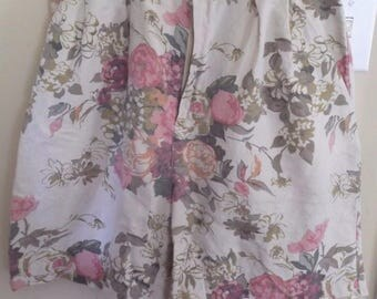 "Women's Shorts by Cambridge Dry Goods Company FLORAL Linen Size 8 (28"" waist) - Lovely Retro vintage Shorts ~ Flowers ~ High Waist"