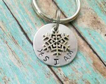 Snow flake keychain, liberal keychain, nasty woman, gift for feminist, equal rights gift, women's march 2018, not my president, protest