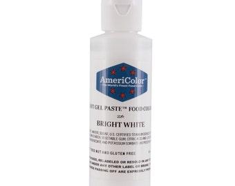 Bright White Food Coloring/Americolor Bright White Soft Gel Paste/White Food Coloring for Cake Batter and Icing/Americolor White Food Color
