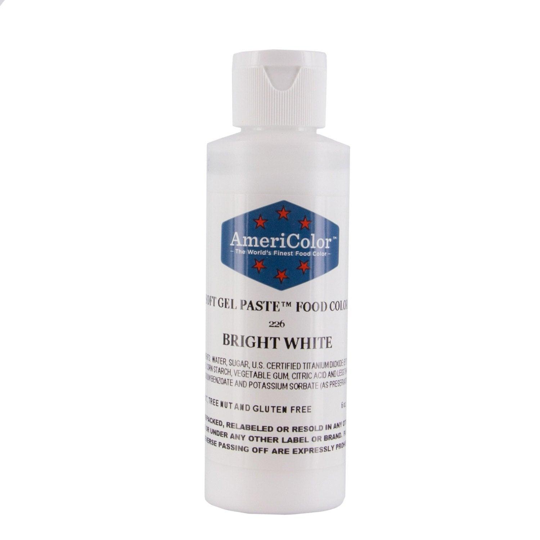 Bright White Food Coloring/Americolor Bright White Soft Gel Paste ...