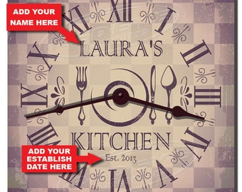 Retro Personalized Kitchen Clock