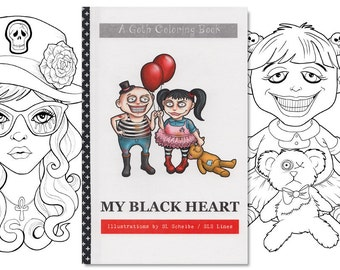 adult coloring book goth girls gothic coloring pages cute goths lineart alternative coloring