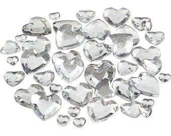 Heart Rhinestones 252 assorted