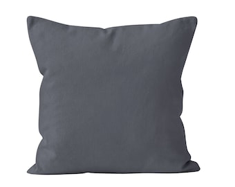Storm Gray Pillow Cover, Dark Gray Pillow Cover, Dark Neutral Pillow Cover, Gray Pillow Case, Gray Throw Pillow Cover Minimalist 18x18