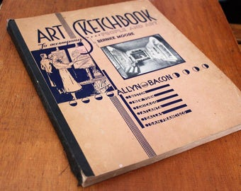 1937 Art Sketchbook To Accompany People And Art By Bernice Starr Moore
