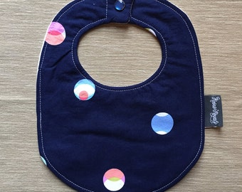 Small Baby Bib | Designer cotton & terry, with flannel core